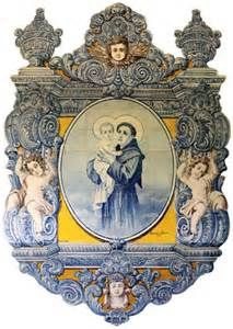 Azulejos de S. Antonio - Portugal, Tile Art, Mosaic Tiles, St Anthony's Feast, Sea Activities, Portuguese Tiles, Blue And White China, Blue Tiles, Hanging Wall Art