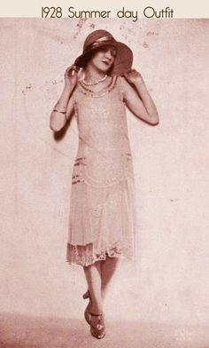 0a64828ba6c5 1928-summer-day-dress.jpg 400×666 pixels 1920s Evening Dress