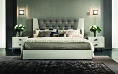 The Mont Blanc Bedroom Set is an elegant collection that emphasizes bold design with modern aspects. Contemporary Bedroom Sets, Contemporary Furniture, Modern Bedroom Furniture, Bed Furniture, Furniture Design, Bedroom Set Designs, Bedroom Ideas, Dispositions Chambre, Quartos