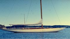 Sagitta 8 metre FIN-2 under Swedish flag in the 50ies or 60ies. Photo by previous owner Sture Högberg