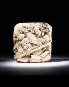 Netsuke Place of origin: Japan (made) Date: 1869 (made) Artist/Maker: Kohosai (maker) Materials and Techniques: Carved ivory
