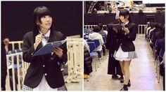 でんぱ組.inc検定の制服はブレザー✨セーラーが多いから、なんか新鮮✨ . . . #でんぱ組 #dempagumi #japan #idol #りさちー #相沢梨紗 #blazer #schoolfashion #style #でんぱ組検定 #monochrome #checkshirt