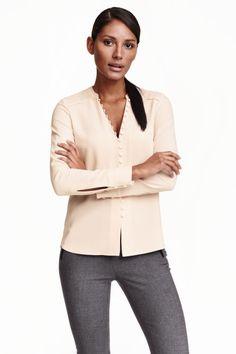 e524ee8afc5482 Crêpe blouse Blouse H m