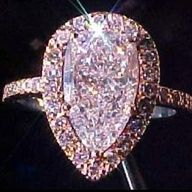 Rare Pink Diamond Ring