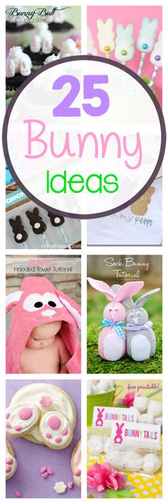 25 Cute Easter Bunny Ideas-Crafts, Treats, Decorations & more