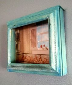 Hey, I found this really awesome Etsy listing at https://www.etsy.com/listing/188445676/shadow-box-shelf-in-turquoise-old-drawer