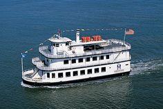 Hornblower Empress cruising the Sacramento River