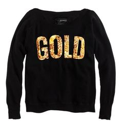 GOLD Sweatshirt by TWO SONGS