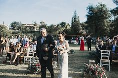 Bride Arriving At Wedding Ceremony - Abruzzo Italy Wedding With Bride In Bespoke Embellished Dress And Groom In Dsquared Suit With Rustic Styling And Images by Atlas Wedding Stories