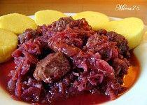Červené zelí  s masem upečené v troubě Pot Roast, Vegetable Recipes, Pork, Beef, Vegetables, Cooking, Ethnic Recipes, Foods, Drink