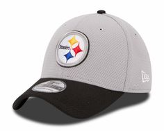 4ec0a786f93 Pittsburgh Steelers New Era 39THIRTY 2015 Official Training Flex Hat -  Graphite Novelty Hats