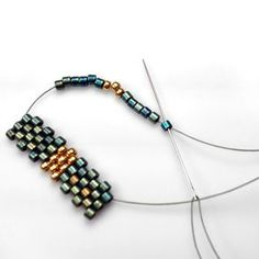 FAST Peyote Method #Seed #Bead #Tutorials |~| Marion Jewels in Fiber - News and Such: Peyote Stitch - The FAST & Sometimes Frustrating Method
