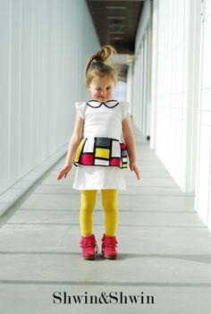 e0b29ddd5 cool mondrian-inspired peplum dress    shwin and shwin Sewing Kids Clothes