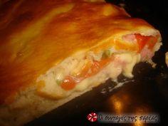 Καλτσόνε αφράτο #sintagespareas Toast, Pie, Chicken, Food, Pizza, Torte, Cake, Fruit Cakes, Essen