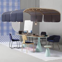 Spanish furniture and upholstery brand Sancal has launched a furniture collection that includes a suspended acoustic shade designed for meeting rooms.