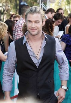 Chris Hemsworth. Good Lord, have mercy. The vest.