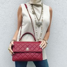 Up Close - #Chanel bag and necklaces.  See previous post for full look and additional info.