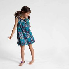 Fun tidepool trapeze dress is great for frolicking around in the grass and trees