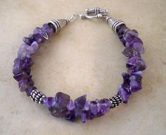 Amethyst Stone Chip Double Strand Bracelet by BeadsNStyle on Etsy, $18.25
