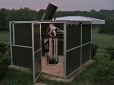 Sandler PierTech Telestation 2 Observatory with Celestron 14 atop Astro-Physics 1200GTO German Mount and Pier-Tech 3 elevating pier (65,120 bytes)