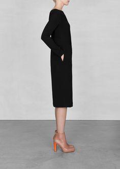 Black midi dress | Black midi dress | & Other Stories
