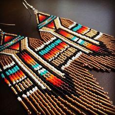 #beadwork #beadedearrings #brickstitch #brickstitchearrings