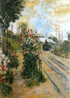 Claude Monet - Arriving at Montgeron
