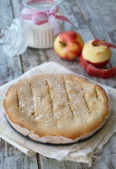 torta cuor di mela Italian Cake, Italian Desserts, Vegan Desserts, Apple Recipes, Cake Recipes, Dessert Recipes, Latte, Bread Cake, Bakery Cakes