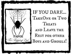 """Halloween """"Not Home"""" sign: A last minute print-out to put on your porch next to your candy bowl on the porch while you take your kids out Trick or Treating! Halloween Poems, Halloween Signs, Halloween 2015, Cute Halloween, Holidays Halloween, Halloween Crafts, Halloween Decorations, Halloween Stuff, Halloween Candy Bowl"""