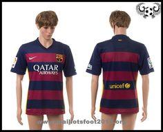 nouveau maillot de foot FC Barcelone 2015-2016 Domicile manche courte homme pas cher