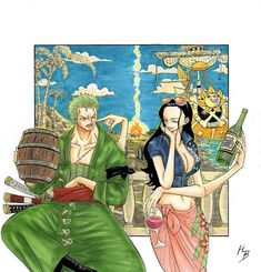 Roronoa Zoro, Nico Robin, One Piece Anime One Piece, Zoro One Piece, One Piece Ship, One Piece Comic, One Piece Fanart, Anime D, Anime Comics, Anime Love, Zoro And Robin