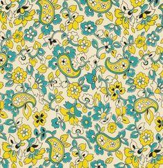 Free Spirit Fabrics Denyse Schmidt Chicopee Paisley in Lime - Half Yard Shelburne Falls, Stash Fabrics, Free Spirit Fabrics, Modern Fabric, Lining Fabric, Schmidt, Dusty Blue, Paisley, Lime