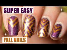 Super easy fall nails