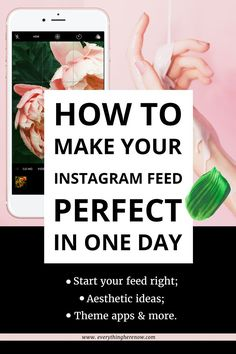 HOW TO EASILY MAKE YOUR INSTAGRAM FEED PERFECT IN ONE DAY: How'd you like to know ALL the best Instagram feed tips out there?  | instagram, instagram tips, blogging tips, social media advice, instagram account, | #socialmedia #instagram #instagramtips