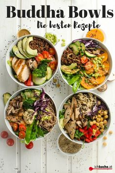 You just have to know and love Buddha Bowls! The best recipes for it . - You just have to know and love Buddha Bowls! You can find the best recipes for this ichkoche. Healthy Salads, Healthy Smoothies, Healthy Drinks, Healthy Eating, Vegetarian Recipes, Cooking Recipes, Healthy Recipes, Cooking Bacon, Cooking Chef