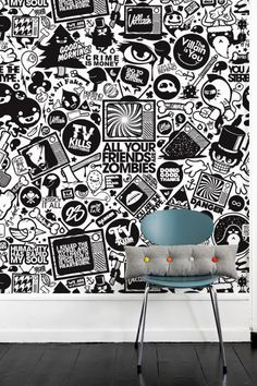 Black Graphic Wall Paper