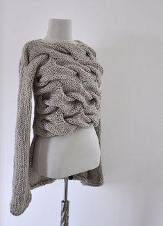 Der warme, Dicke und chunky Pullover ist handgestrickte mit Acryl Mischung Wollgarn. Es ist nicht jucken. Es fühlt sich weich und angenehm. Die