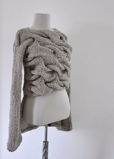 Pullover Strickjacke Jacke Tunika klobige von reflectionsbyds