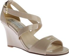 Women's+Touch+Ups+Jenna+Wedge+Sandal+-+Nude+Patent+with+FREE+Shipping+&+Exchanges.+Jenna+from+Touch+Ups+is+a+strappy,+sultry+sandal+on+a+2+3/4++wedge.+Large+