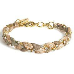 Vintage Sari Bracelet Sand now featured on Fab.