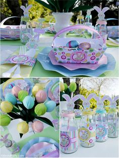 Super adorable Easter Egg Hunt party ideas for the whole family! With printables, DIY decorations, food and favors!