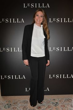 MILAN, ITALY - FEBRUARY 28 2015: Tessa Gelisio attends the Le Silla - Fall Winter 2015 Collection Presentation as part of Milan Fashion Week Womenswear Fall Winter 2015 on February 28, 2015 in Milan, Italy.
