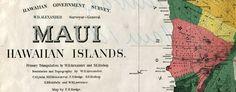 Dodge's #map of #Maui, #Hawaii (1885)