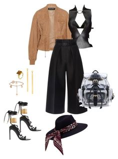 Untitled #364 by lea-monrad-post on Polyvore featuring polyvore, fashion, style, Balmain, Martin Grant, Fleur du Mal, Tom Ford, Lana, Gucci and clothing