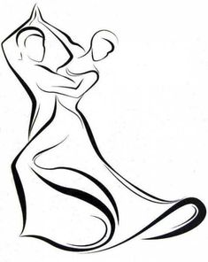 Dance - logo, line drawing, by Peter Pavluvčík, of 1989.