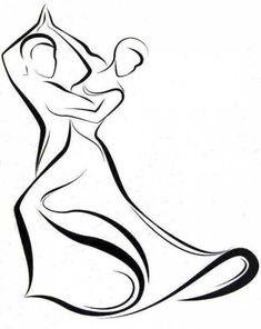 Dance - logo, line drawing, by Peter Pavluvčík, of 1989.