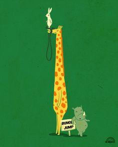 Me gusta mucho el humor naïf de Lim Heng Swee, ilustrador de Kuala Lampur (Malasya!)Pueden conocer más de su trabajo en: ilovedoodle.com/
