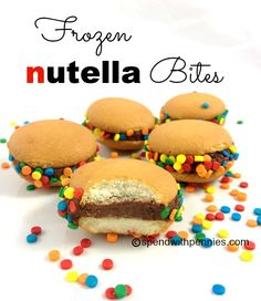 Frozen Nutella Bites Love it? Pin it! (Just click the photo!) Follow Spend With Pennies on Pinterest for more great recipes! A rich smooth Nutella filling with a crunchy cookie is a great after dinner treat! This is actually a take on my Nutella Frosting recipe… because I had a bunch of left over frosting and didn't know what to do with it! My girls love these, they call them Nutella Burgers. They are super easy to whip up and  {Read More}