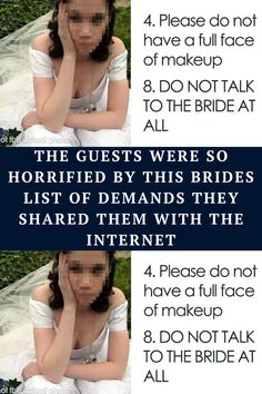 The word 'bridezilla' gets bandied about a little too easily these days, but this bizarre list of rules and demands apparently shared by a prospective wedding guest takes the meaning of the word to a new level.
