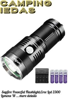 (This is an affiliate pin) Supfire Powerful Flashlight,Cree Led 2300 Lumens Waterproof Searchlight 4pcs 18650 Batteries and Charger Included Flashlight Torch 5 Modes Perfect for Fishing Camping Trip Camping Lights, 18650 Battery, Fish Camp, Flashlight, Charger, Fishing, Led, Peaches, Pisces